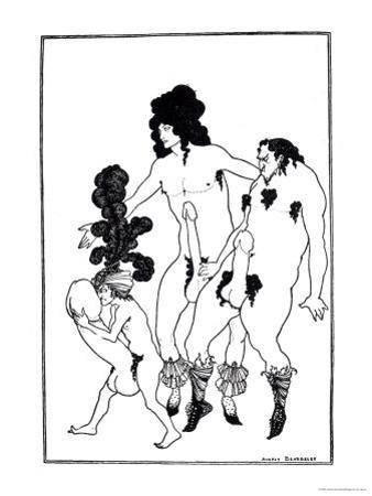 The Lacedaemonian Ambasadors, Illustration from Lysistrata by Aristophanes 1896 by Aubrey Beardsley