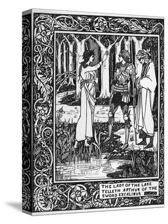 The Lady of the Lake Telleth Arthur of the Sword Excalibur, Illustration from 'Le Morte D'Arthur' by Aubrey Beardsley