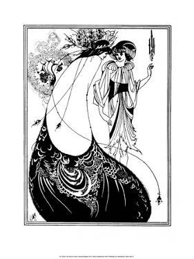 The Peacock Skirt by Aubrey Beardsley