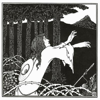 The Return of Tannhauser to the Venusberg, from 'The Story of Venus and Tannhauser', 1895 by Aubrey Beardsley
