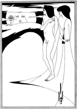 The Woman in the Moon by Aubrey Beardsley