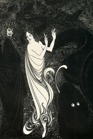 Third Tableau Illustration for Das Rheingold, Published in the Savoy, 1896 by Aubrey Beardsley