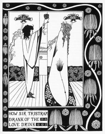 Tristram Drinks the Love Potion by Aubrey Beardsley