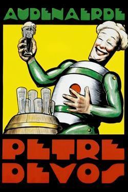 Audenaerde Petre Devos Robot Advertisement Plastic Sign