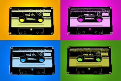 Audio Cassette Tapes Bright Pop Plastic Sign