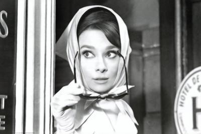 Audrey Hepburn Movie (Scarf) Poster Print