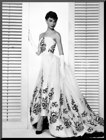 "Audrey Hepburn. ""Sabrina Fair"" 1954, ""Sabrina"" Directed by Billy Wilder. Custome by Edith Head--Mounted Photo"