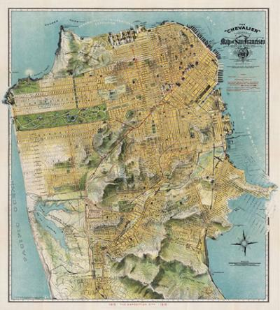 Map of San Francisco, California, 1912 by August Chevalier