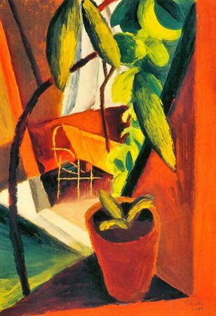 August Macke A Look Into Summer-House Art Print Poster