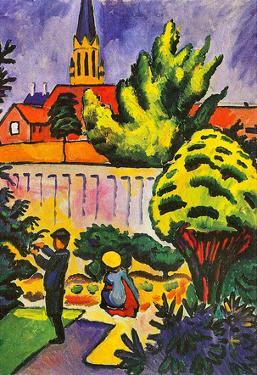 August Macke Children in the Garden Art Print Poster