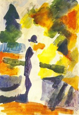 August Macke Couple in the Park Art Print Poster