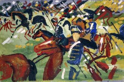 Hussars Setting Out, 1913 by August Macke