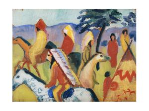 Indians on Horseback by August Macke