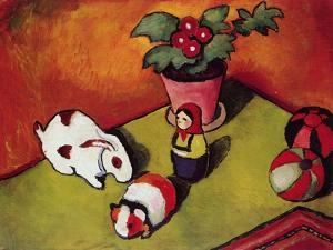 Little Walter's Toys, 1912 by August Macke