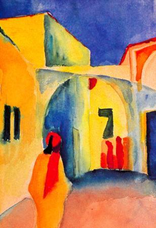 August Macke Look in a Lane Art Print Poster