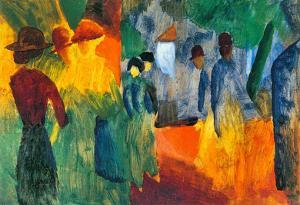 August Macke People in the Park Art Print Poster