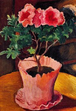 August Macke Rose Azaleas Art Print Poster