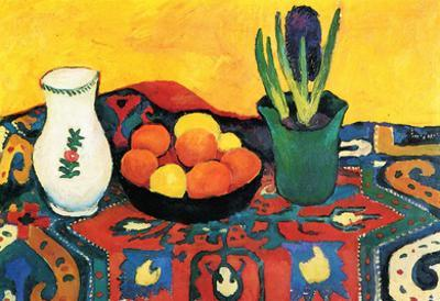 August Macke Still Life with Hyacinthe Art Print Poster