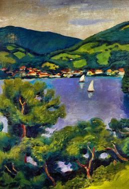 August Macke Tegern Sea Landscape Art Print Poster