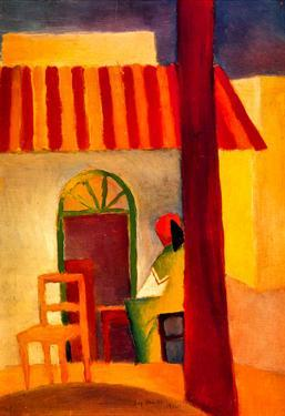 August Macke Turkish Cafe Art Print Poster