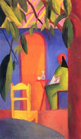 August Macke (Turkish Café (II)) Art Poster Print