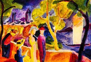 August Macke Walking at the Lake Art Print Poster
