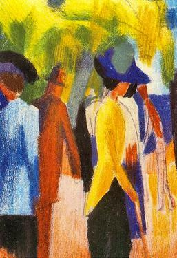 August Macke Walking Under Trees [2] Art Print Poster