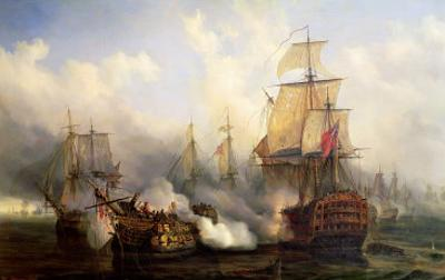 The Redoutable at Trafalgar, 21st October 1805 by Auguste Etienne Francois Mayer