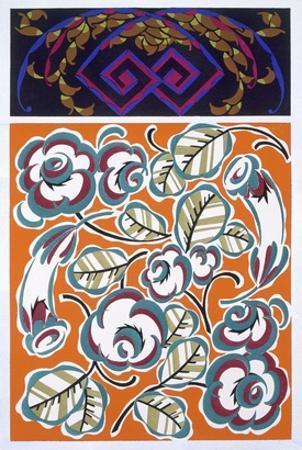 Interior Design Pattern, Plate 4 from 'Formes Et Couleurs', Published C.1930 (Colour Litho)