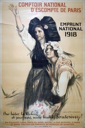 Comptoir National D'Escompte De Paris, French World War I Poster, 1918