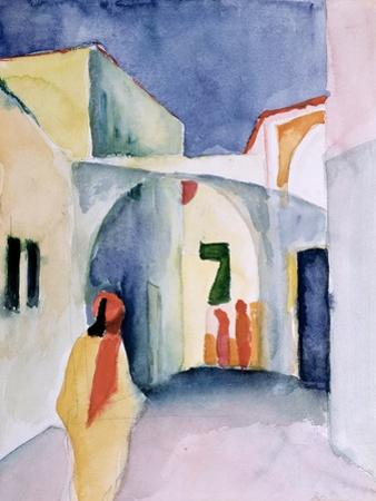 A Glance Down an Alley by Auguste Macke