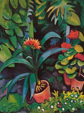 Blumen im Garten by Auguste Macke