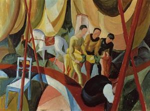 Circus 1913 by Auguste Macke
