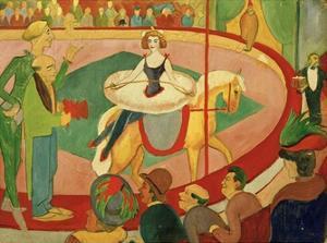 Circus I Circus Rider 1911 by Auguste Macke