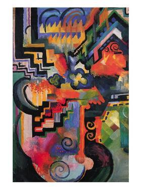 Colored Composition (Homage ? Sebastian Johann Bach) by Auguste Macke