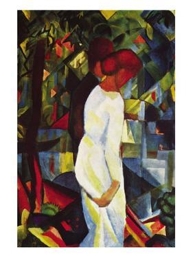 Couple In The Forest by Auguste Macke