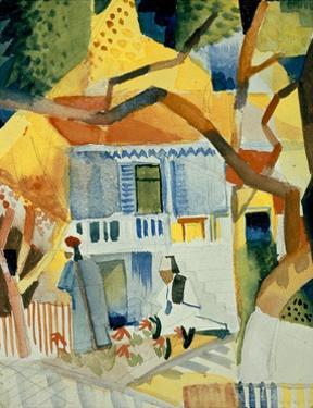 Courtyard of a House in St Germain by Auguste Macke