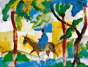Donkey Rider by Auguste Macke
