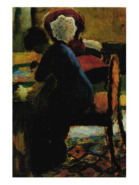 Elisabeth At The Desk by Auguste Macke