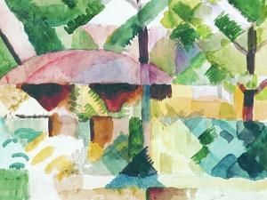 Entrance of a Garden by Auguste Macke