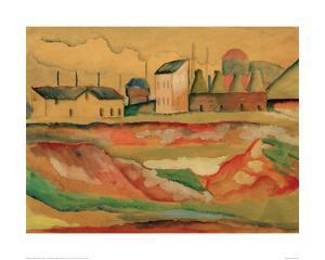 Factory by Auguste Macke