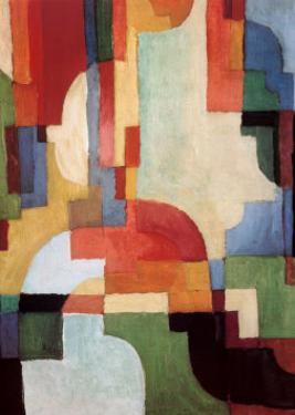 Farbige Formen I, 1933 by Auguste Macke