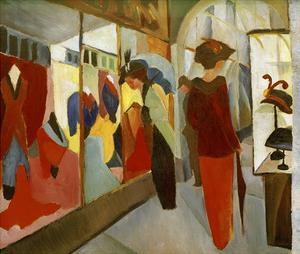 Fashion Boutique 1913 by Auguste Macke