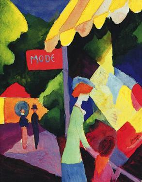 Fashion Store Window by Auguste Macke
