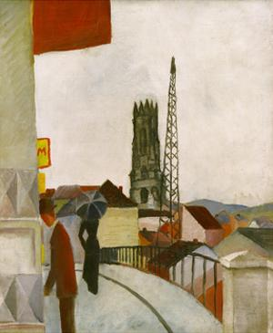 Freiburg Cathedral by Auguste Macke