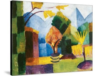 Garden on the Lake by Auguste Macke