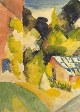 Greenhouse in the Park by Auguste Macke