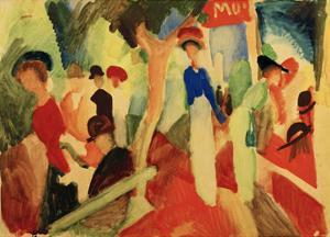 Hat Shop at the Promenade by Auguste Macke