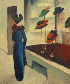 Hat Shop by Auguste Macke
