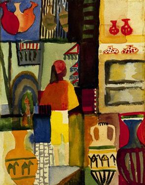 Jug seller 1914 by Auguste Macke